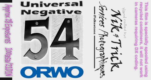 ORWO UN54 100asa ~ una de las mejores películas blanco y negro hecho actualmente ~ fresca!