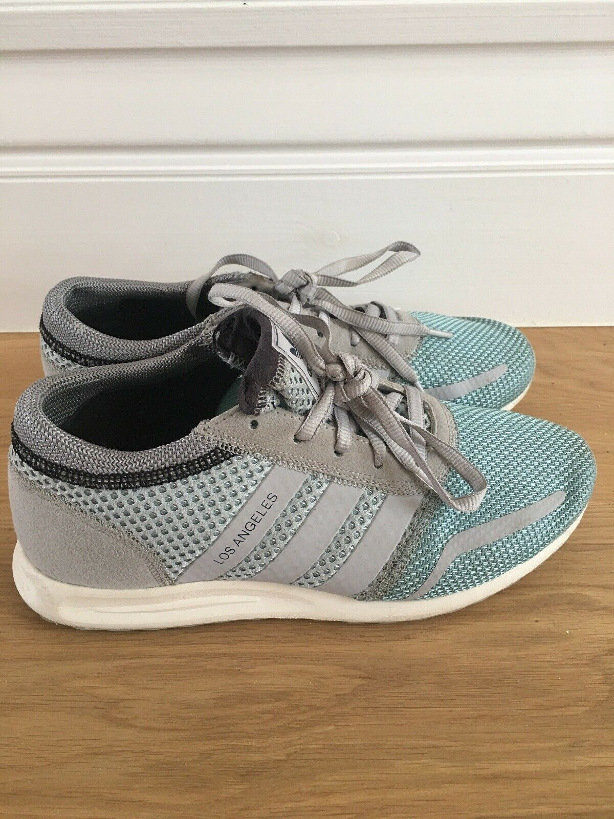 Adidas Los Angeles Trainers Grey and Blue UK size 6 Seasonal price cuts, discount benefits