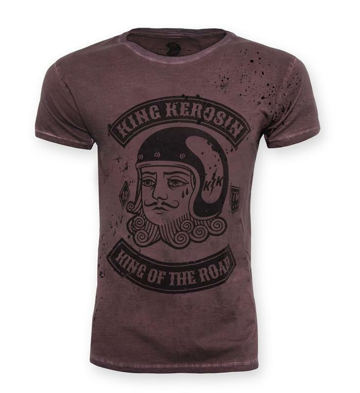King Kerosin T-Shirt Shirt Mechanic King of the Road 13 Herren     | Fein Verarbeitet