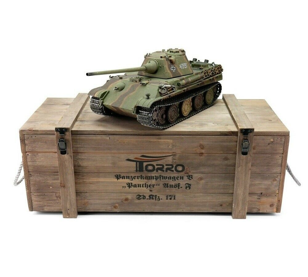 1 16 Torro German Panther Ausf F RC Tank 2.4GHz Airsoft Metal Edition PRO