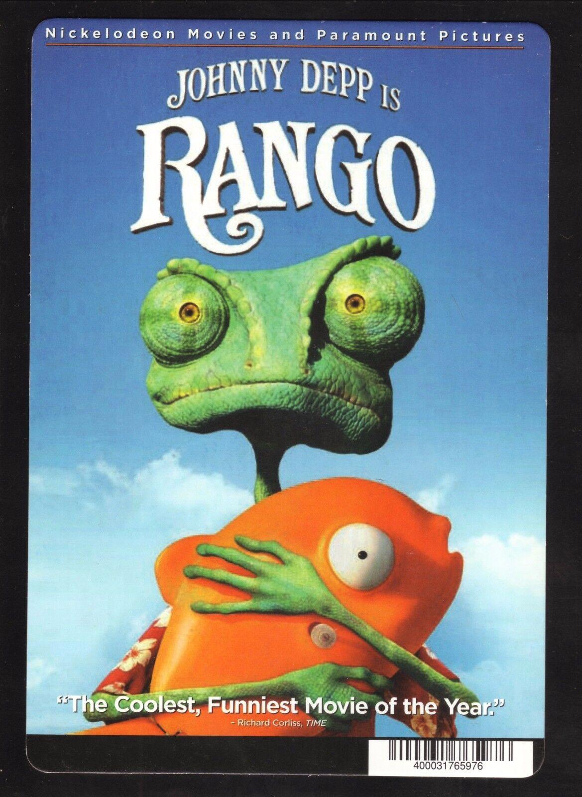 Rango 2011 Dvd Backer Card Only For Sale Online