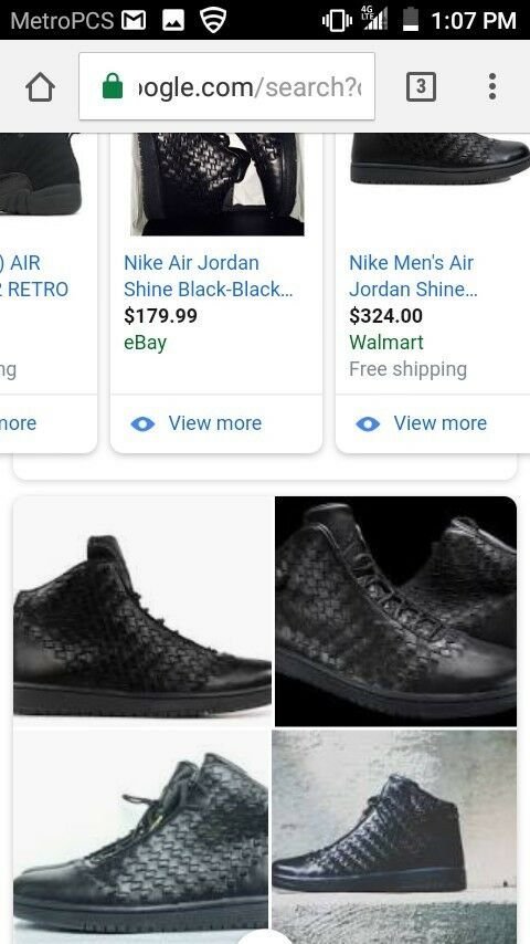 NIB NIKE Air Jordan Shine Black Black Size 12