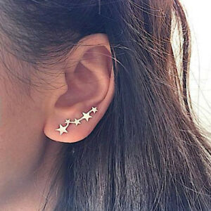 Tiny-Star-Stud-Earring-Ear-Climber-Cuff-Earring-Ear-Crawler-Girl-Fashion-Jewelry