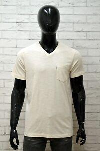 Maglia-LEVIS-Uomo-Taglia-Size-L-Maglietta-Shirt-Man-Cotone-Manica-Corta-Bianco