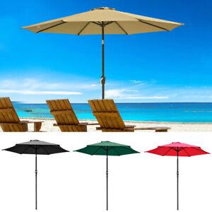 0ac1a0eb7247 Details about 2.5m 2.7m 3m Round Parasol Sun Shade Outdoor Patio Garden  Umbrella w/ Crank Tilt