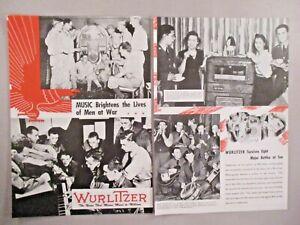 Wurlitzer juke box double-page print ad - 1944 ~ phonographe JUKE-BOX; Seconde guerre mondiale-afficher le titre d`origine 4rQxDCJ9-09092629-654514414