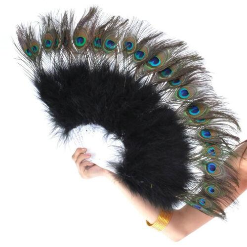 Big Folding Fan Peacock Feather Eye Dance Fan Show Prop Party Fancy Ball Theatre
