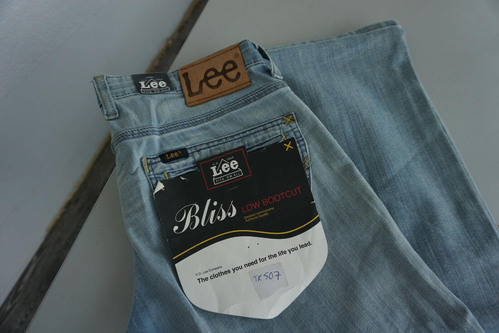 Lee Bliss low  botacut jeans fina Super pantalón elástico w28 l33 Stonewash azul nuevo 5  respuestas rápidas