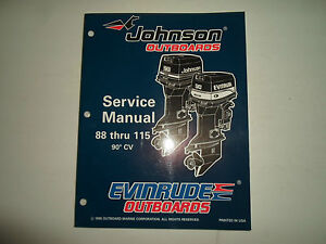 1996 johnson evinrude outboards 88 thru 115 90 cv service. Black Bedroom Furniture Sets. Home Design Ideas