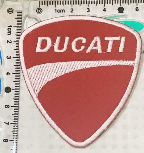 red Ducati corse Biker Jacket Iron on Patch Badge