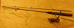 "Zebco Adventure Spin Cast rod and reel combo. 5' 6"" 2 pc  Dark Green w/ ZB Line"