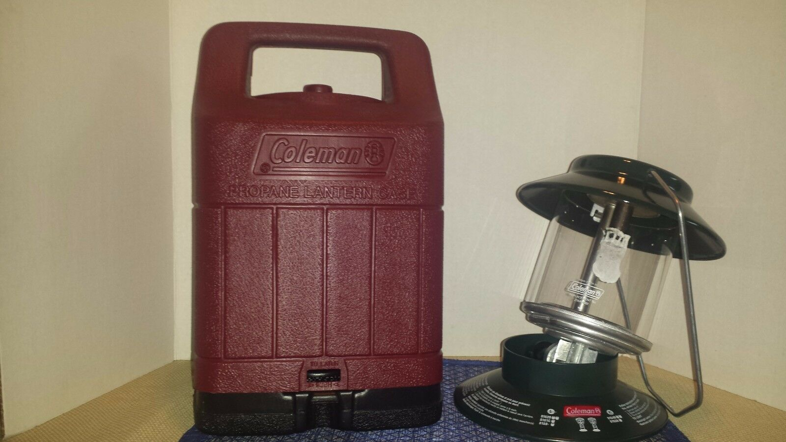COLEMAN ONE MANTLE 03 99 PROPANE LANTERN MODEL  5151 W HARDSHELL CASE  sale with high discount
