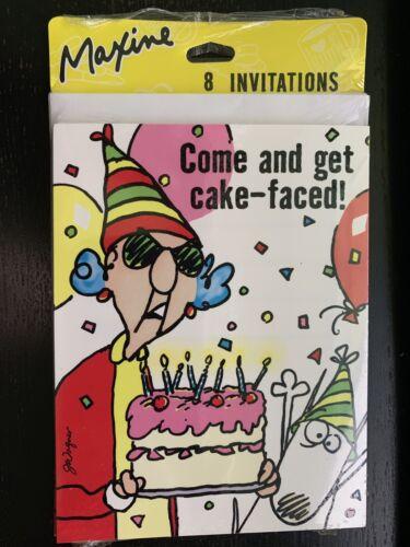 Hallmark Maxine sobre la colina Fiesta Invitaciones a 16 vienen y obtener Pastel frente