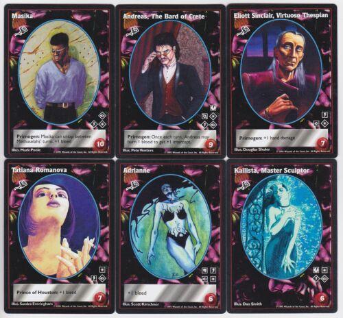V:TES VTES Toreador Big Cap Crypt Lot G1 6x Vampires Mixed 10th//V:TES Ed