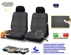 Coprisedili Fiat Cinquecento Fodere per sedile auto cotone grigio sedile set in