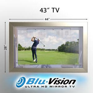 "ON SALE! MIRROR TV 43"" SAMSUNG Q60A QLED SMART 4KTV SILVER FRAME 44""X28""X1.2"