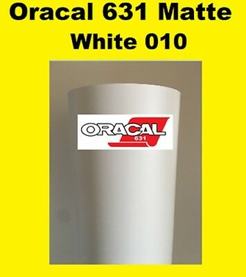 "Oracal 631 Matte White 010 Sign Vinyl Indoor Wall Cutter Stickers 12/""x 10 ft"