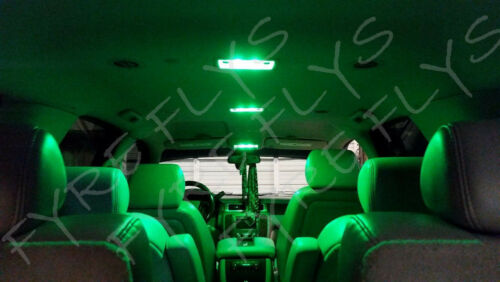 Tool AT3G 13x Green LED Interior Lights Package Kit for 2009-2014 Acura TL