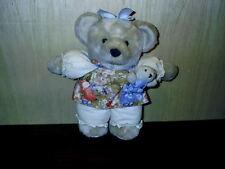 "Vintage Hallmark Chrusantha Mom & Sweet Pea Plush Bear Teddy 12"""