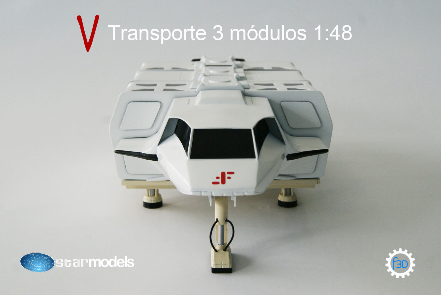 V The Visitors 3 Pod Shuttle 1:48 .Transporte de V Los Visitantes maqueta 1:48