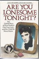 ELVIS PRESLEY -  ARE YOU LONESOME TONIGHT BY LUCY DE BARBIN HARDBACK BOOK UK