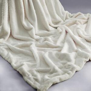 Rabbit-Faux-Fur-Sofa-Bed-Luxury-Throw-Over-Warm-Blanket-150-x-200-cm-Cream
