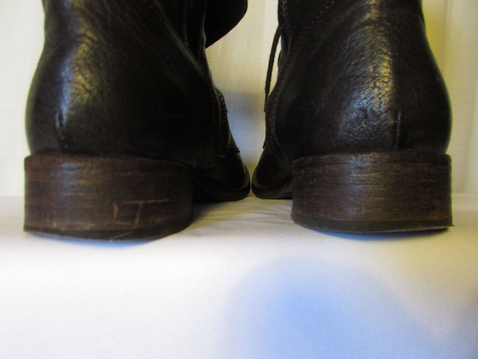 bottines bottines bottines now cuir marron et métal pointure 36 4c51c0