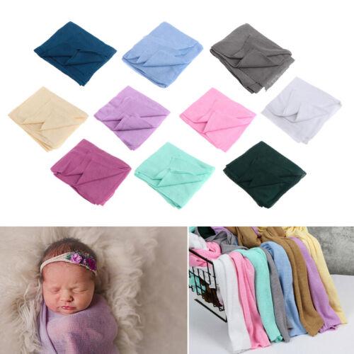 New 40*150cm Baby Blanket Newborn Soft Swaddle Wrap Crochet Blankets Photo Props