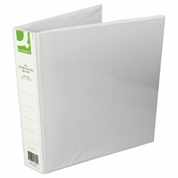 Q-Connect Presentation 40mm A4 White 4D-Ring Binder (Pack of 6) [KF01329Q]