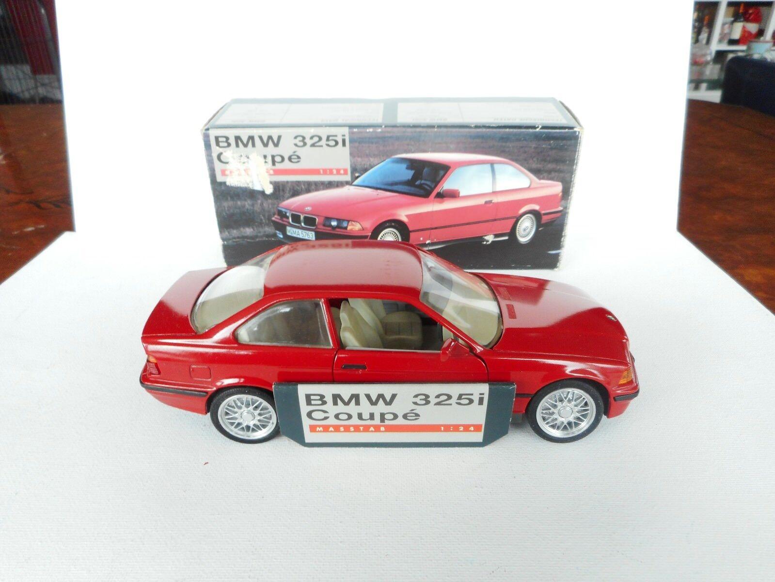 1 24 GAMA BMW 325I COUPE E 36 I röd NÄRA M lådaED RARE SJÄLL Herregud