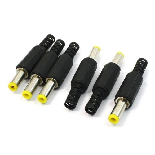 5.5mm x 2.5mm DC Netzstecker maennliche Fassverbinder schwarz 6 Stueck J1Y7 I4J8