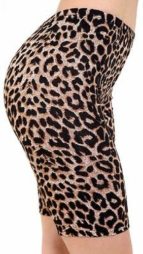 Women/'s USA,Leopard,Camo Printed Gym Yoga Active Dancing Cycling Shorts UK 8-26
