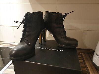 French Connection Schuhe 39 Absatz 10 cm Stiefeletten Damen Lederschuhe Stiefel | eBay