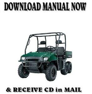Polaris Ranger 700 Utv 4x4 6x6 Efi Factory Service Repair Manual On Cd 2007 Ebay