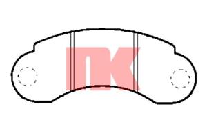 Bremsbelagsatz Scheibenbremse NK 223320