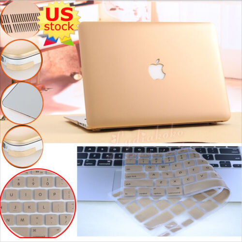 "Matt// Silk Leather// Quicksand Hard Case+Keypad Cover for MacBook Air Pro 11/""//13/"""