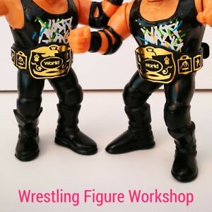 Belts-for-WWF-WWE-Hasbro-Galoob-Wrestling-Figures-2xTag-Retro-Belts-WFW