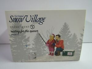 Dept-56-Snow-Village-Casting-For-The-Opener-4058777-Fishing-New-MIP