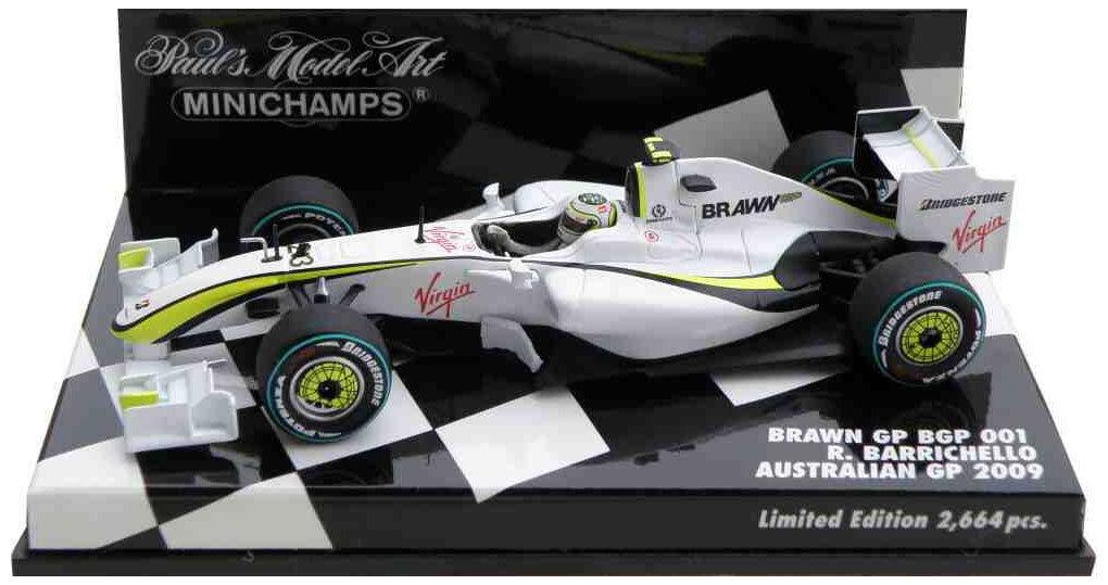 Minichamps BRAWN bgp001 Australia GP 2009-RUBENS BARRICHELLO scala