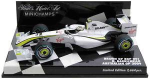 Minichamps Brawn Bgp001 Australie GP 2009 - Rubens Barrichello Echelle 1/43