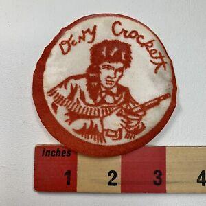 Thin-RED-1950s-DAVY-CROCKETT-Patch-Emblem-FOLK-HERO-TENNESSEE-MILITIA-61P6
