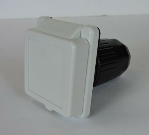 50 amp 125v//250 Power Cord Twist Electrical Lock in White Boat RV Marine Inlet