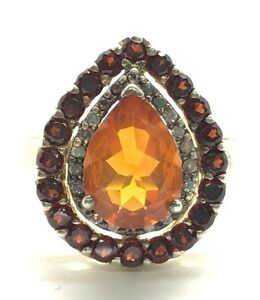 Sterling-925-Opaque-Orange-Citrine-Red-Garnet-Halo-Diamond-Accent-Cocktail-Ring