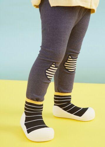 ATTIPAS URBAN YELLOW ergonomical child sock shoes minimalist rubber bottom soles