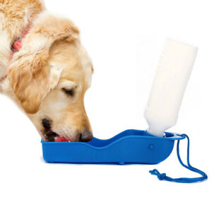 HOT-Portable-Foldable-Plastic-Feeding-Bowl-Dog-Cat-Travel-Pet-Water-Bottle