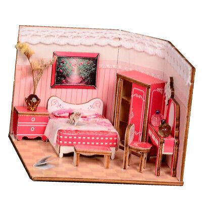 Dolls Teddy Bears Dollhouse Diy Girls Princess Bedroom Set With Furniture 1 24 Scale Dollhouse Furniture Room Items Coronapack Ba