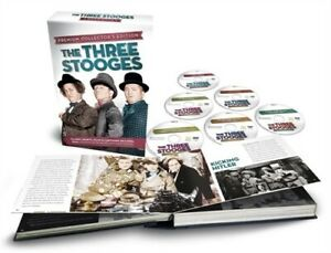 THE THREE STOOGES PREMIUM COLLECTOR'S EDITION New Sealed 6 DVD Set + Book