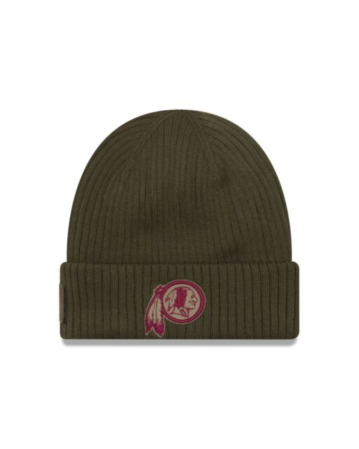 7b3eafd1e39a3f Washington Redskins New Era 2018 Salute To Service Sideline Knit Hat - Olive