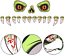 thumbnail 4 - CCINEE-Halloween-Monster-Face-Outdoor-Decoration-with-Eyes-Fangs-Nostril-Garage