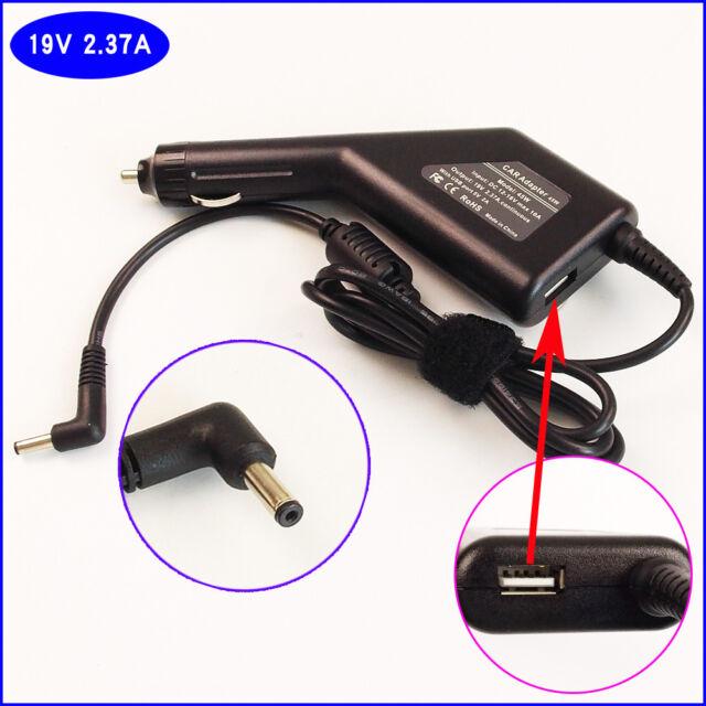 Notebook DC Power Adapter Car Charger +USB For ASUS E402 E402M E402MA E402SA